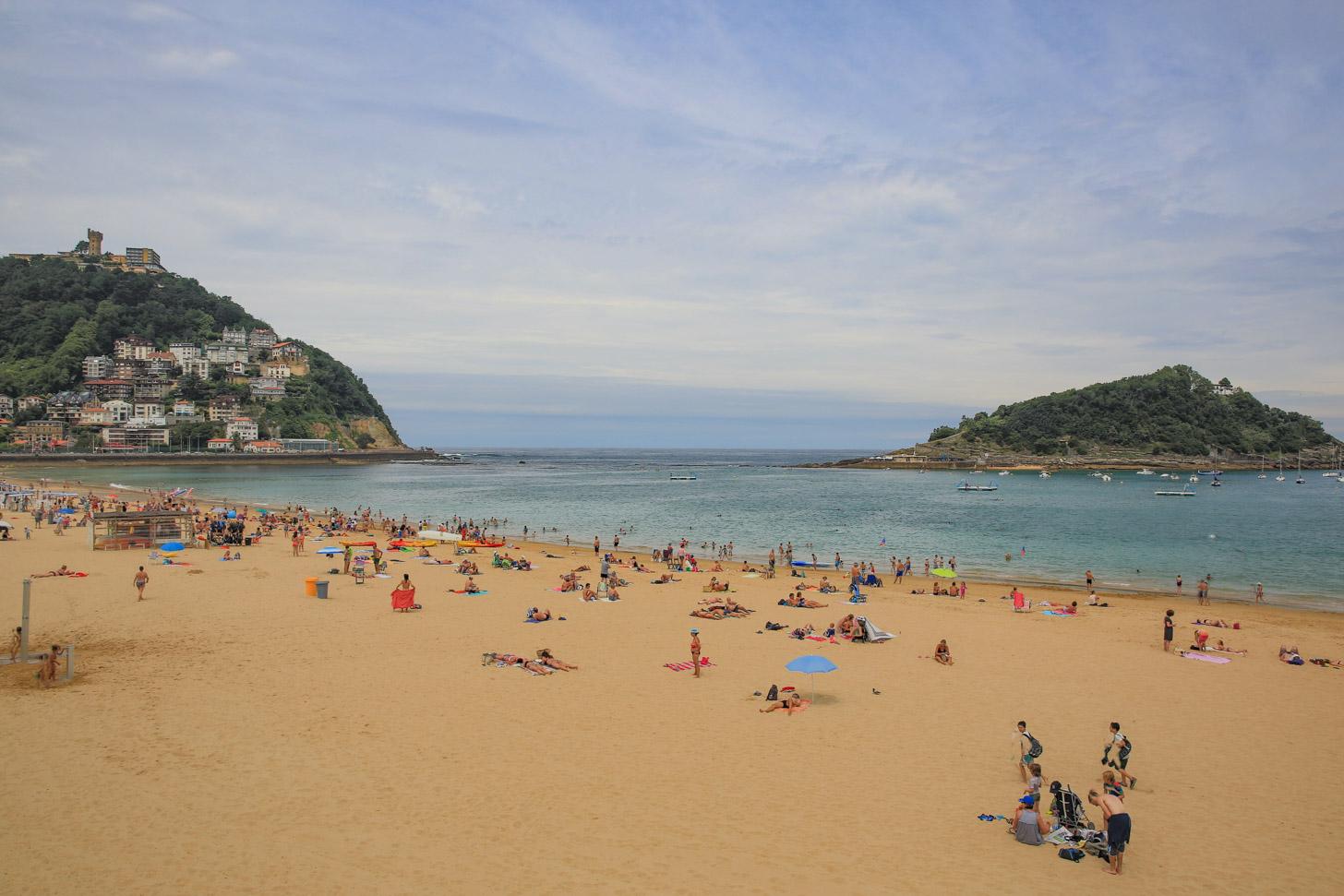 Stranden van San Sebastian